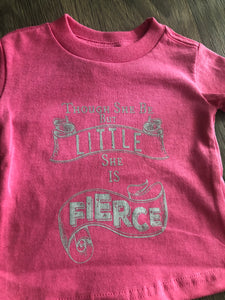 Though She Be But Little She Is Fierce Kids Tee
