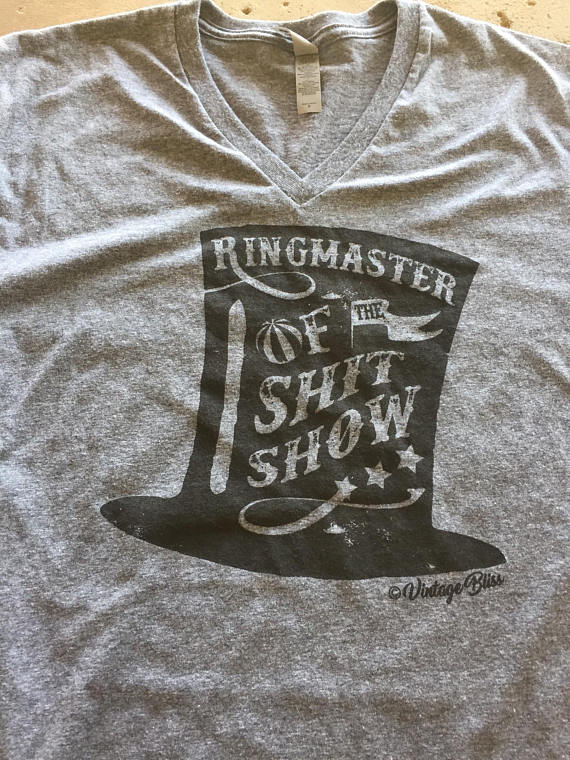 Ringmaster of the Shit Show Unisex Heather Grey T-Shirt