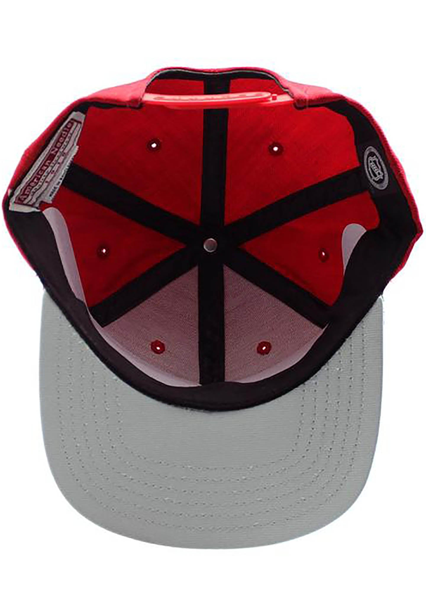 American Needle Chicago Blackhawk NHL Flat Brim Chipper Snapback Hat