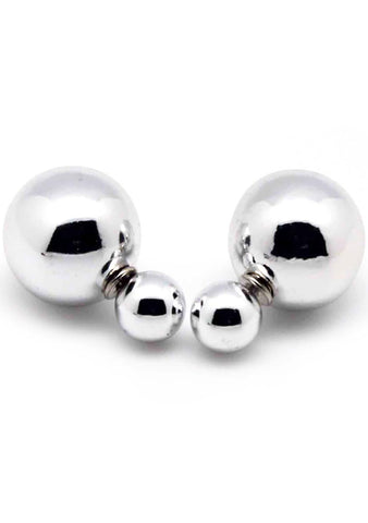 7 LUXE Disco Ball Post Stud Earring in Silver