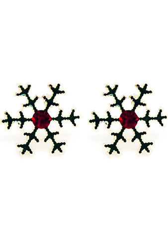 7 LUXE Christmas Snowflakes Post Stud Earring