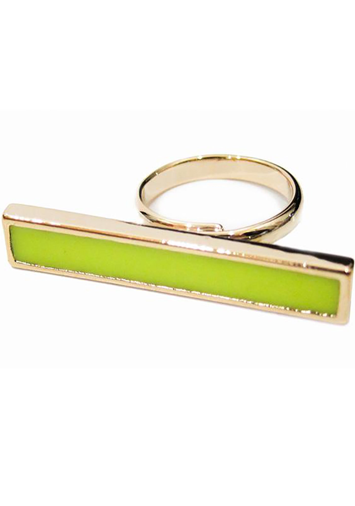 FASHô Neon Bar Ring in Neon Yellow
