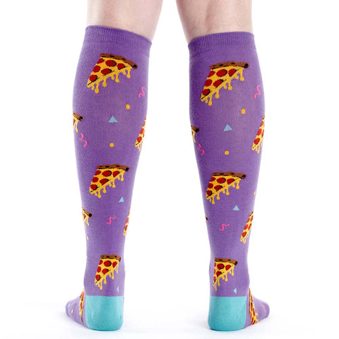 Sock It To Me Pizza Party Knee High Socks