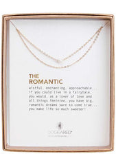 DOGEARED The Romantic Potato Pearl Double Chain Necklace