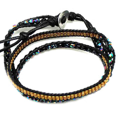 7 LUXE X Katie Soleil Multi Beaded Wrap Bracelet in Peacock