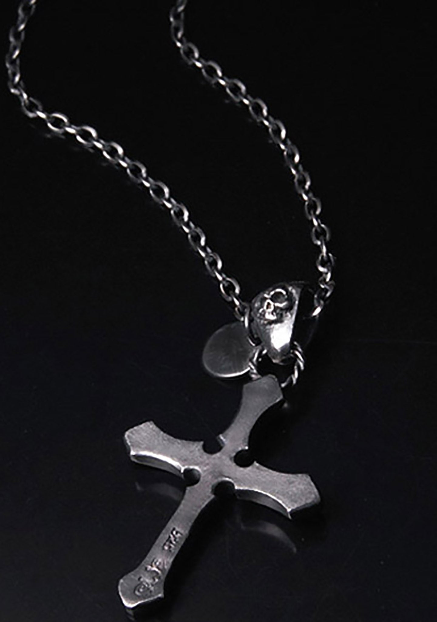 2 Abnormal Sides Reversible Cross Necklace
