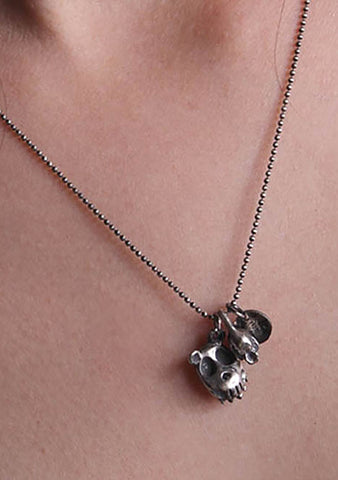2 Abnormal Sides Reversible Grizzly Charm Necklace