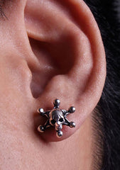2 Abnormal Sides Single Joker Skull Pierce Earring