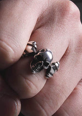 2 Abnormal Sides M Skull Ring