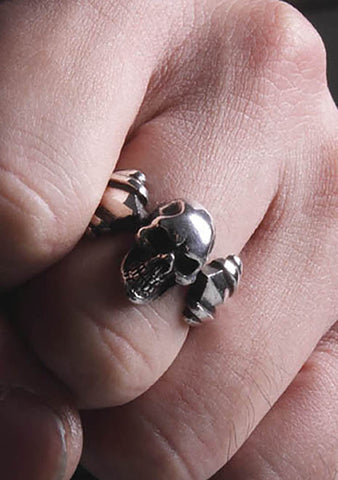2 Abnormal Sides Joker Skull Ring