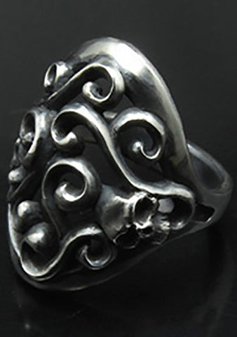 2 Abnormal Sides Vine of Skull Ring