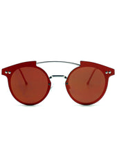 Spitfire Trip Hop Flat Lens Sunglasses in Silver/Red