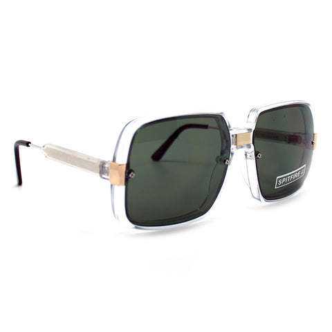 Spitfire Puritan Oversized Sunglasses in Clear