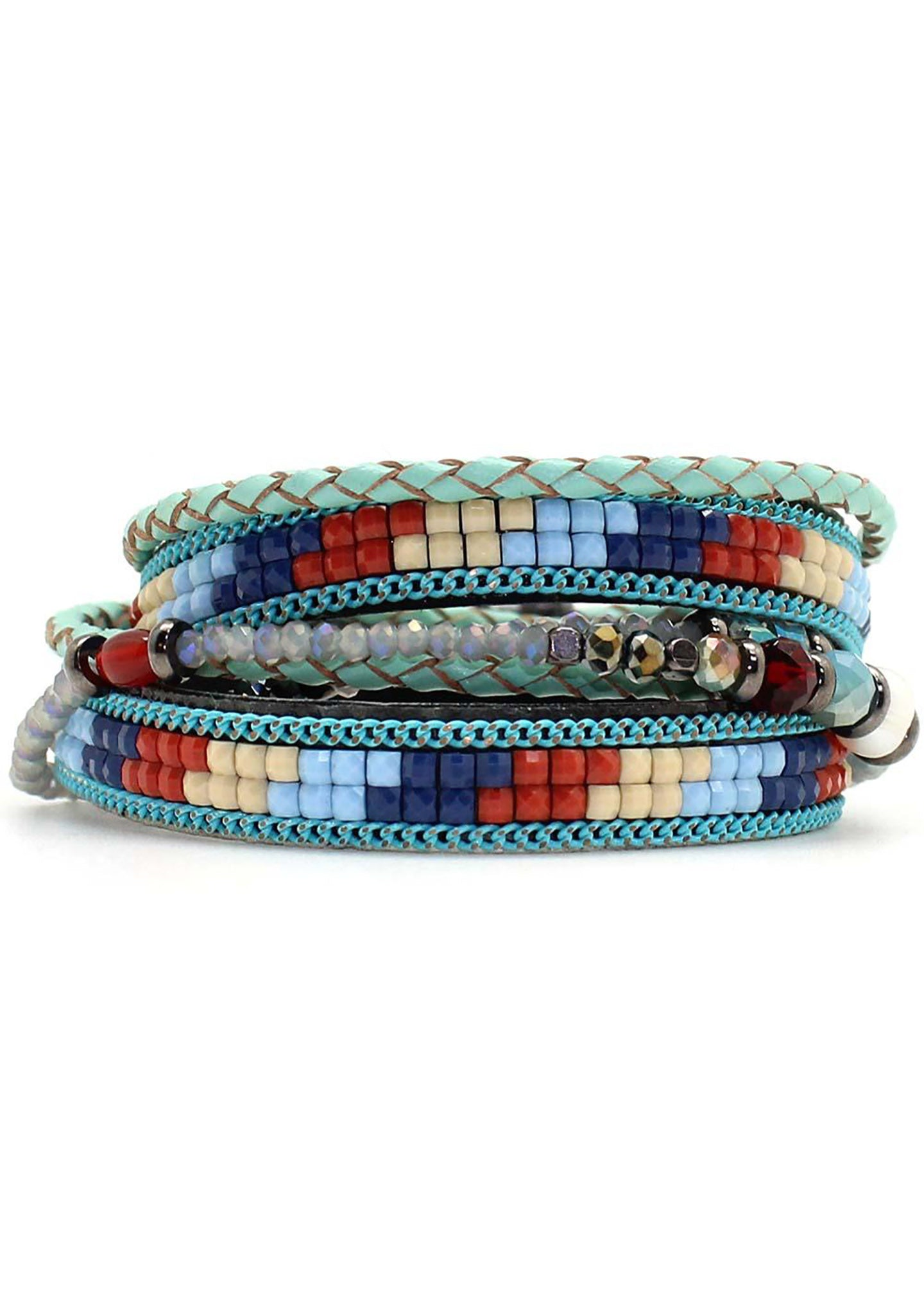 7 LUXE Sioux Beaded Double Wrap Bracelet