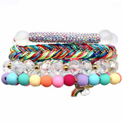 Over The Rainbow Bracelet Stack
