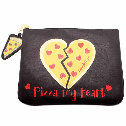 Betsey Johnson Pizza My Heart Clutch Bag