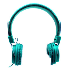 Mesh Stereo Headphones in Aqua -SOLD OUT