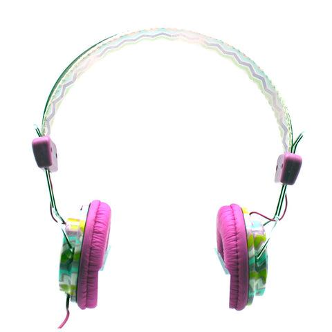 Purple Navajo Stereo Headphones