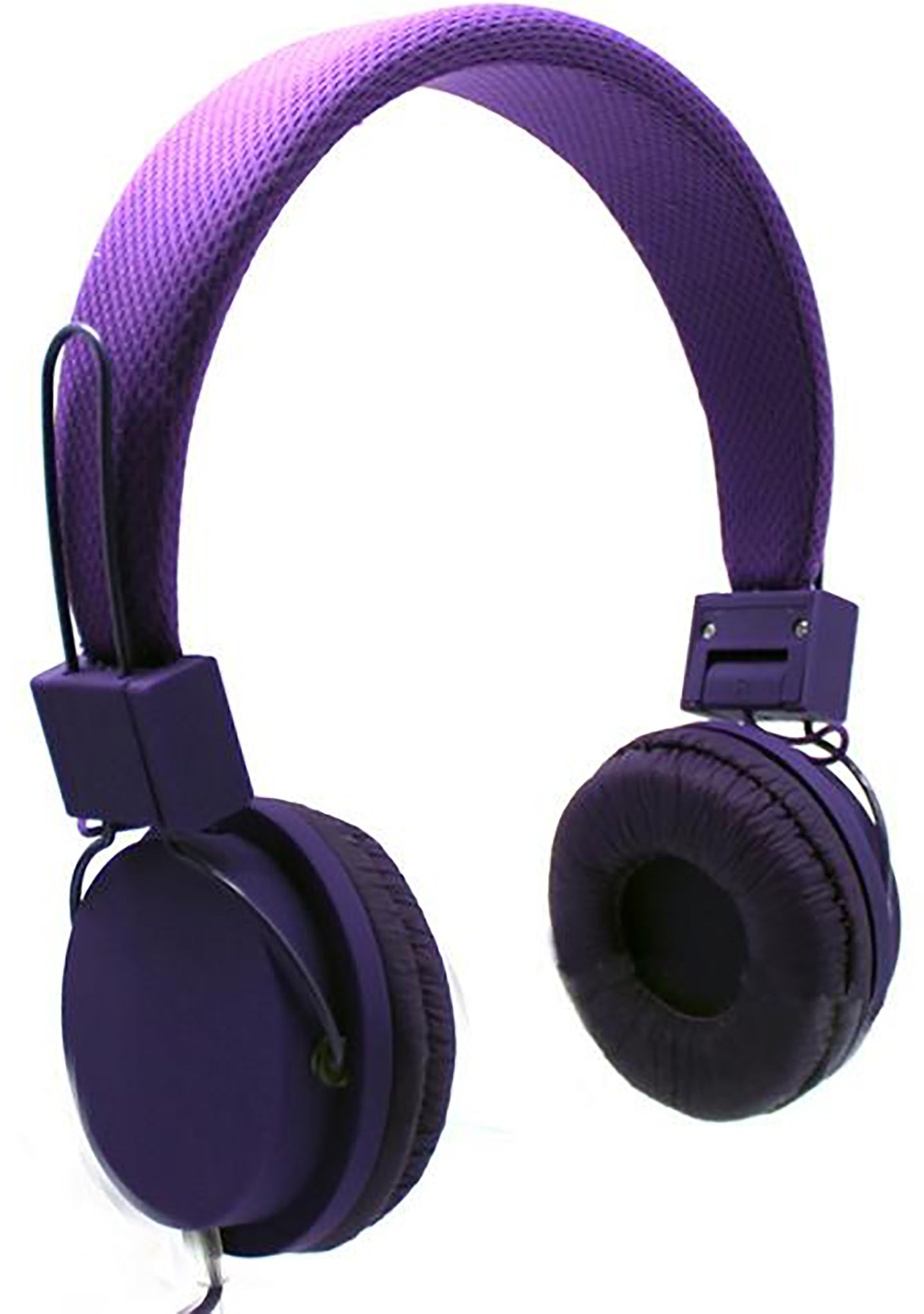 Mesh Stereo Headphones in Purple