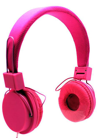 Mesh Stereo Headphones in Pink