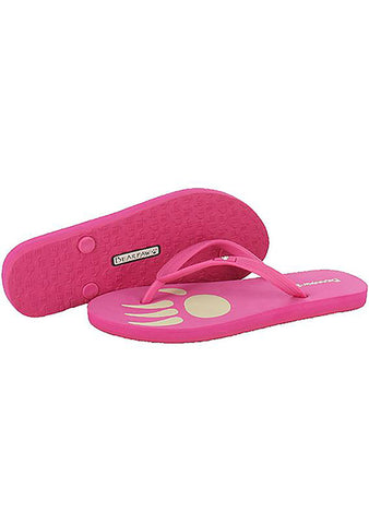 Bearpaw Lilly Soft Rubber Logo Flip Flop Sandal in Hot Pink