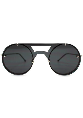 Spitfire Algorithm Sunglasses in Silver/Black
