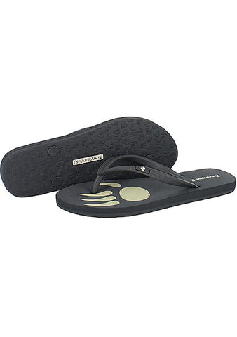 Bearpaw Lilly Soft Rubber Logo Flip Flop Sandal in Charcoal