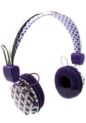 Purple Diamond Stereo Headphones