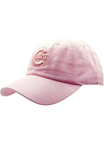 American Needle Chicago Cubs Tonal Ballpark Raglan Baseball Hat in Pink