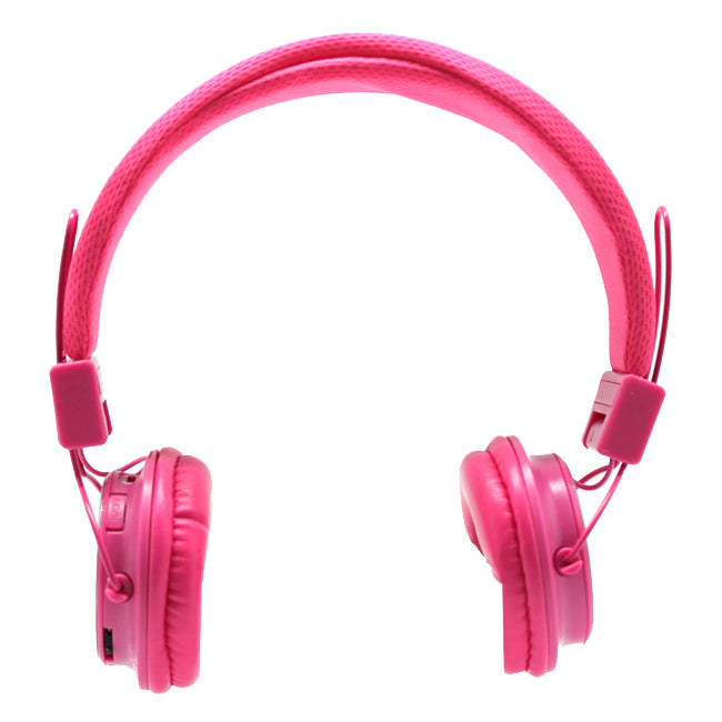 Bluetooth Wireless Stereo Headphones in Pink