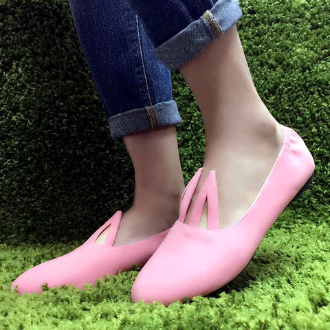 Cute To The Core Hopper Bunny Flats in Pink