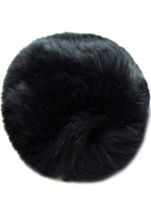 7 LUXE Single Puff Ball Pin Clip in BlaCK