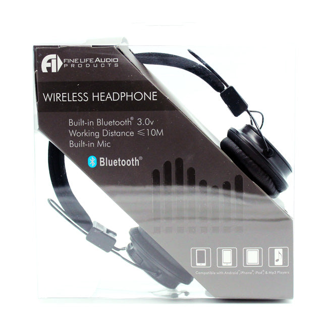Bluetooth Wireless Stereo Headphones in Black