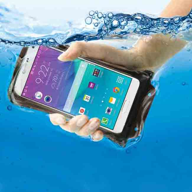 "DiCAPac 5.7"" Universal Waterproof Smartphone Case in Yellow"