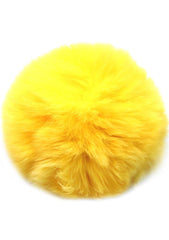 7 LUXE Single Puff Ball Pin Clip in Yellow