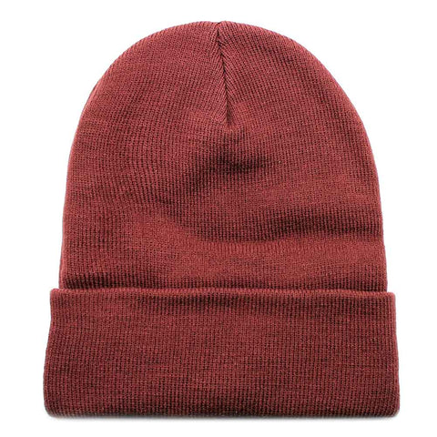 Psycho Bunny Basic Knit Beanie Hat in Port