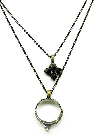 7 LUXE Antique Orb Pendant Necklace