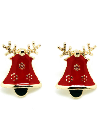 7 LUXE Christmas Bells Post Stud Earring
