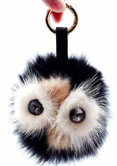 7 LUXE Mr. Owl Keychain in Black