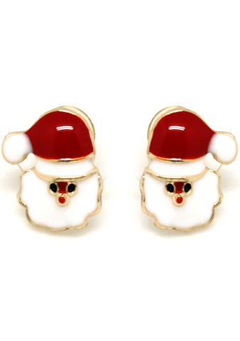 7 LUXE Christmas Santa Claus Post Stud Earring