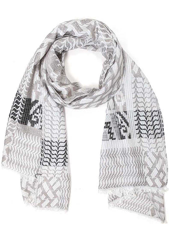 7 LUXE Tribal Scarf in Grey