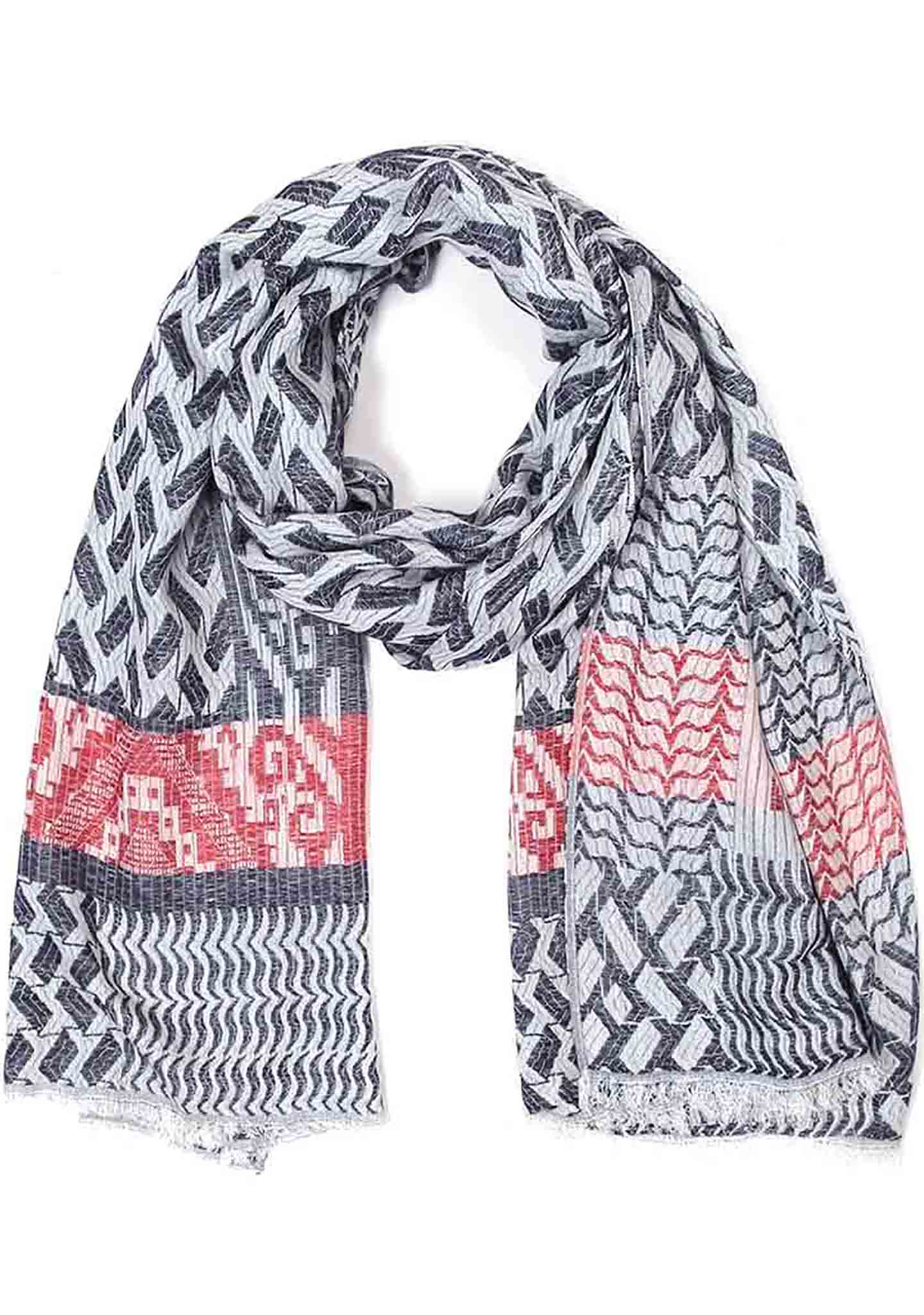 7 LUXE Tribal Scarf in Navy