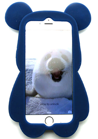 7 LUXE Freedom Bear Silicone Case for iPhone 6