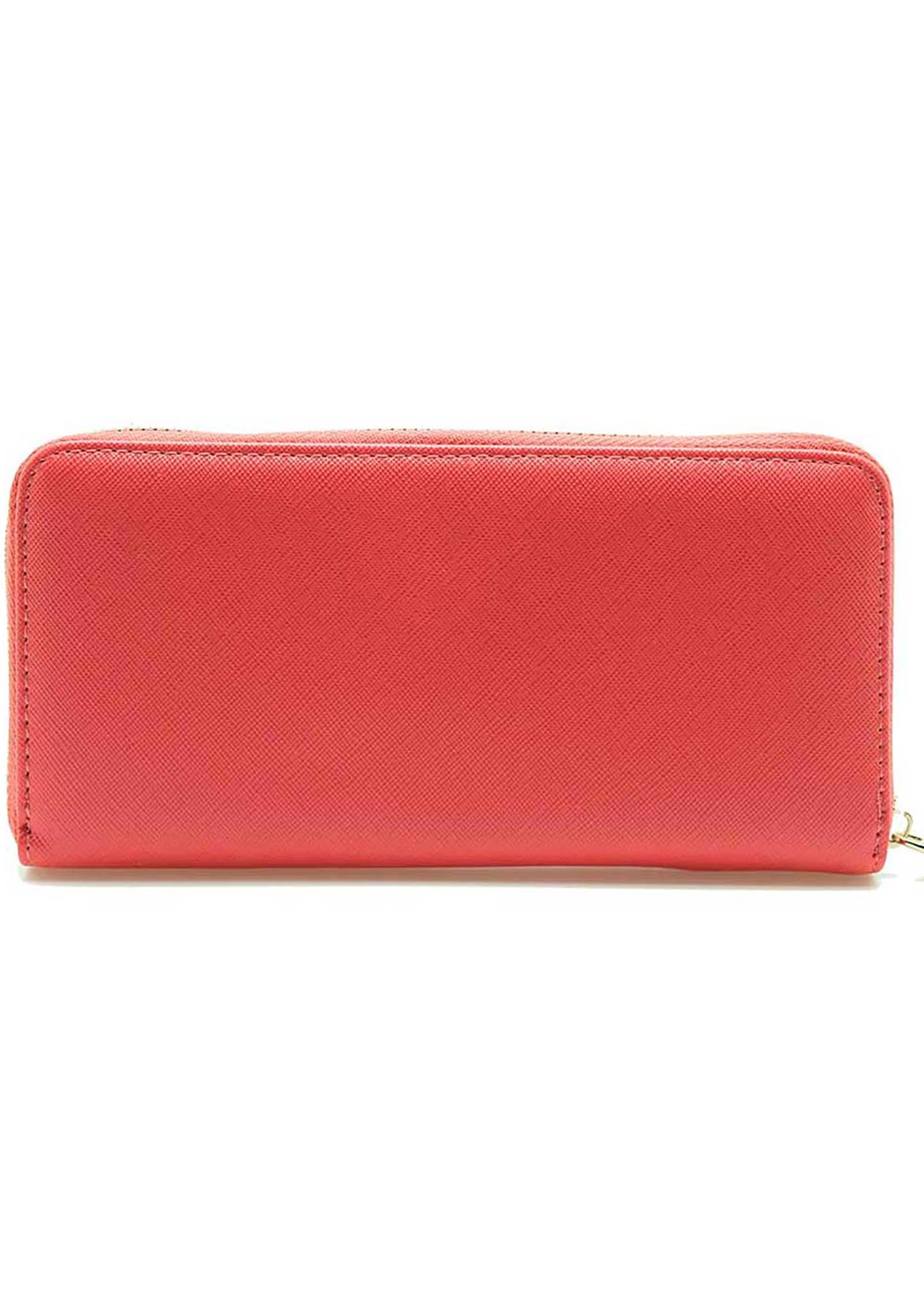 7 LUXE Sailon Moon Bow Zip Wallet in Coral