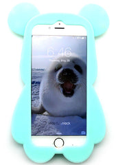 7 LUXE Super Star Bear Silicone Case for iPhone 6 in Aqua