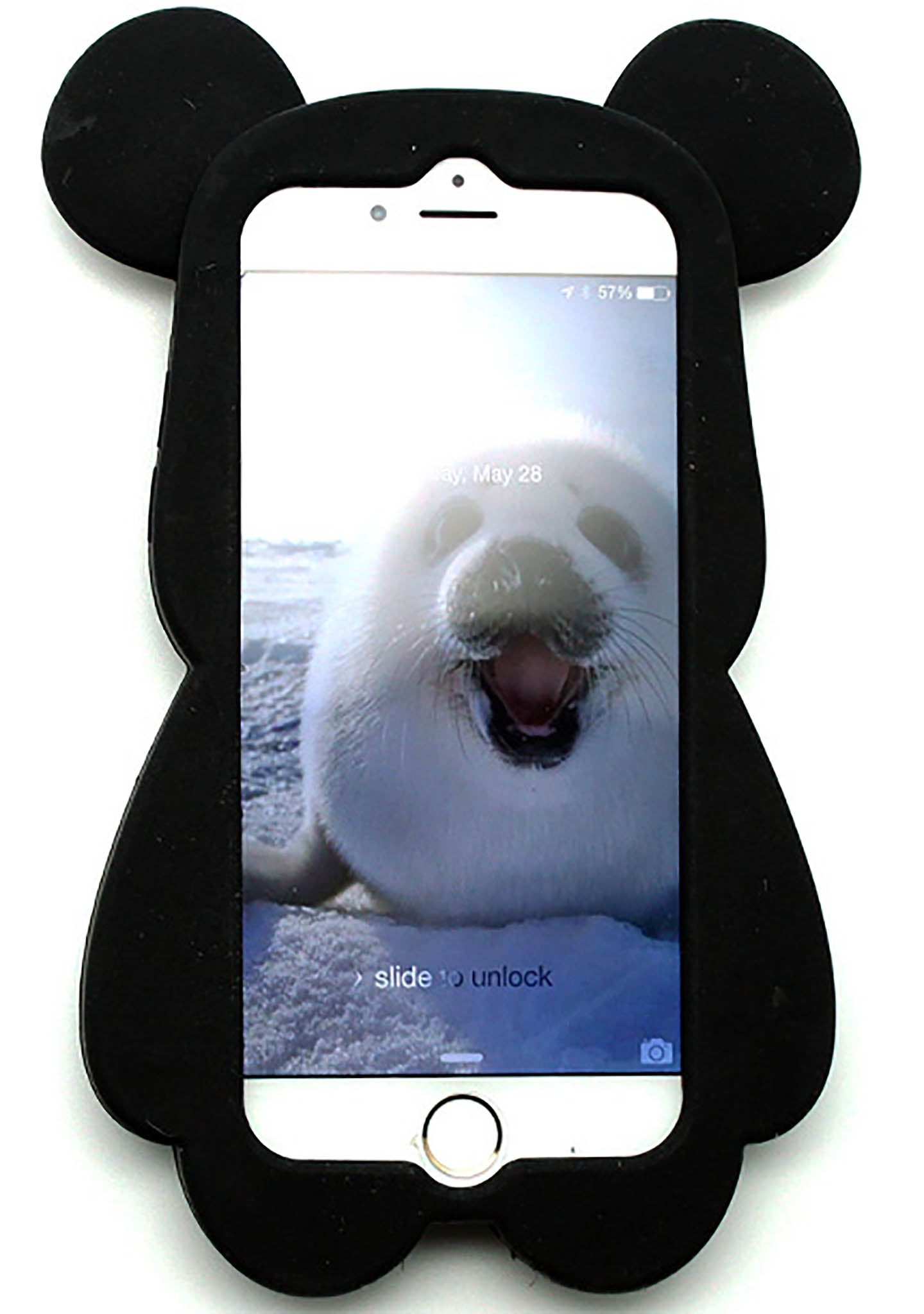 7 LUXE Super Star Bear Silicone Case for iPhone 6 in Black