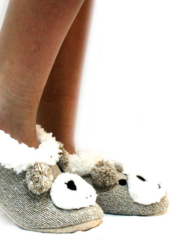7 LUXE Bear Face Slippers