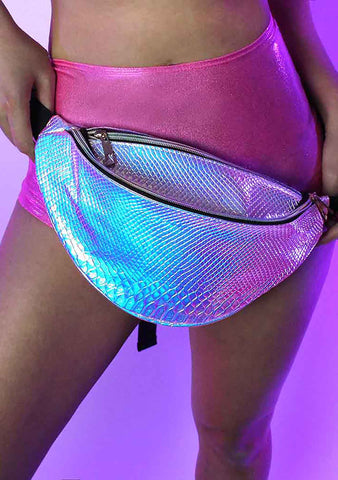 Cosmic Python Holographic Fanny Pack