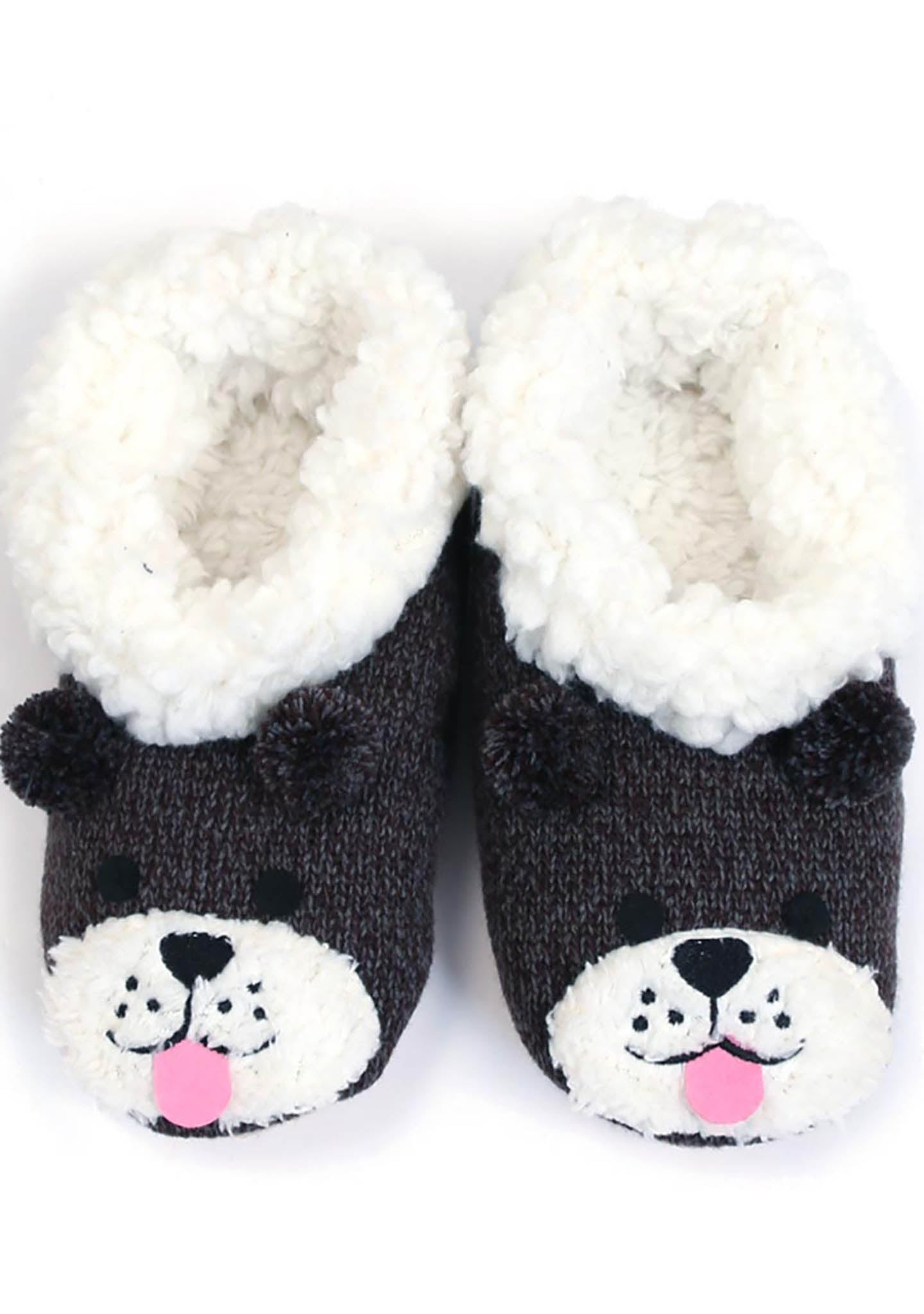 7 LUXE Puppy Dog Face Slippers