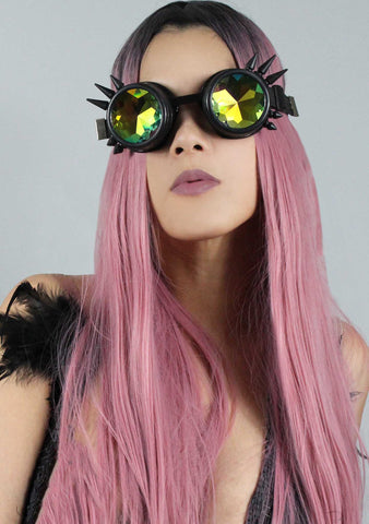 7 LUXE Dragon Slayer Kaleidoscope Goggles in Matte Black